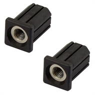 Richmond 19mm x M8 Square Threaded Tube Insert  - 2 Pack