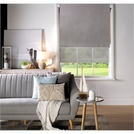 Markisol 240 x 240cm Hilton Indoor Day and Night Roller Blind - Ivory
