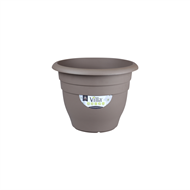 Northcote Pottery 200mm Taupe Villa Round Plastic Pot