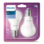 Philips 13W LED A60 Globes Bc Cool White - 2 Pack