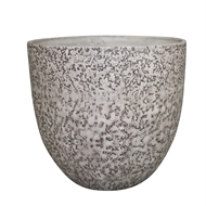 Northcote Pottery 300 x 280mm Rock White Lunar Egg Pot