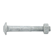 Zenith M8 x 60mm Galvanised Cup Head Bolt and Nut