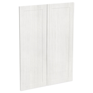 Kaboodle 900mm White Forest Alpine Medium Pantry Doors - 2 Pack