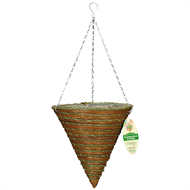 Gardman 30cm Mountain Rope and Fern Cone Hanging Basket