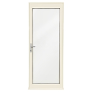 Polar Eco-View 2040 x 820mm White Birch Double Glazed Full Lite Entry Door Kit