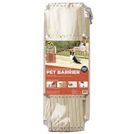 Hakuna Pets Timber Extra-Wide Expanding Pet Barrier
