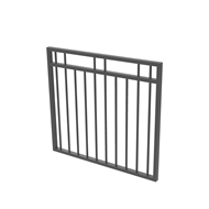 Protector Aluminium 975 x 900mm Double Top Rail 2 Up 2 Down Garden Gate - To Suit Gudgeon Hinges - Monument