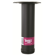 Leggz 60 x 230mm Black Round Metal Furniture Leg