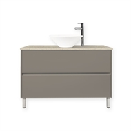 Forme 1200mm Crust Quay Bell Floor Vanity With Colourstone Benchtop