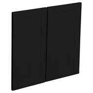 Kaboodle 600mm Black Olive Country Rangehood Cabinet Door - 2 Pack