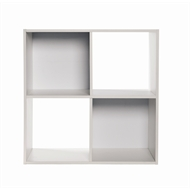 Clever Cube Compact 2 x 2 White Storage Unit