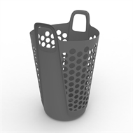 Ezy Storage 57L Flexi Laundry Hamper - Grey
