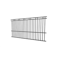 Protector Aluminium 2450 x 1800mm Custom Double Top Rail 2 Up 2 Down Pool Fence Panel