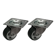Move It 30mm 20kg Grey Swivel Plate Castor - 2 Pack