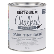 Rust-Oleum 857ml Dark Tint Base Chalked Ultra Matt Paint