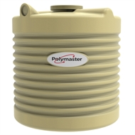 Polymaster 600L Round Corrugated Poly Water Tank - Wheat
