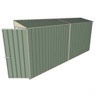 Build-a-Shed 0.8 x 4.5 x 2m Hinged Door Tunnel Shed - Green