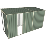 Build-a-Shed 1.5 x 3.7 x 2m Sliding Door Tunnel Shed with Sliding Side Door - Green