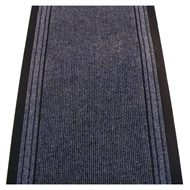 Ideal DIY 67cm Bristol Ribbed Blue Carpet Runner