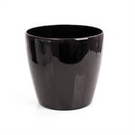 Eden 28cm Premium Cache Black Self Watering Plastic Pot