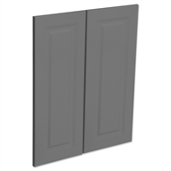 Kaboodle Smoked Grey Heritage Corner Wall Cabinet Door - 2 Pack
