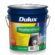 Dulux Weathershield 15L Matt -  Vivid White Exterior Paint