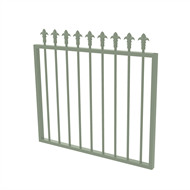 Protector Aluminium 975 x 900mm J Spear Top Garden Gate - To Suit Gudgeon Hinges - Pale Eucalypt