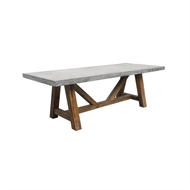 Mimosa 2 x 1m Nebraska Cement Dining Table