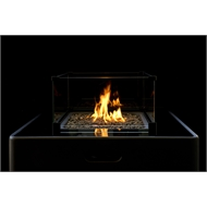 Decofire 88 x 88 x 99cm Gas Fire Table - Graphite