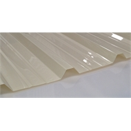 Suntuf Trimdek 5.4m Smooth Cream Polycarbonate Roofing Sheet