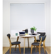 Windoware 50mm 90 x 150cm White Cordless Aluminium Venetian Blinds