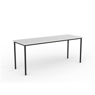 CeVello 1800 x 600mm Black Frame White Top Canteen Table