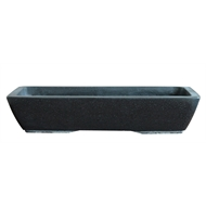 Northcote Pottery 39 x 19 x 8cm Black Keidai Terrazzo Bonsai Pot