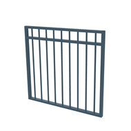 Protector Aluminium 975 x 900mm Double Top Rail All Up Garden Gate - To Suit Gudgeon Hinges - Deep Ocean