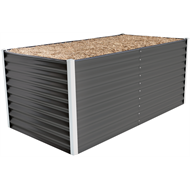Birdies 1.8 x 0.9m x 740mm Designer Range Woodland Grey Corrugated Steel Garden Bed