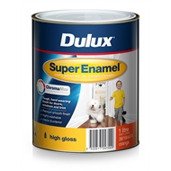 Dulux Super Enamel 1L High Gloss ChromaMax Orange Enamel Paint