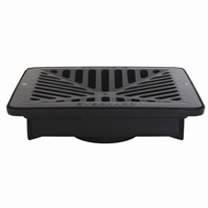 Everhard EasyDRAIN Shallow Flo-way Pit with Black Polymer Grate
