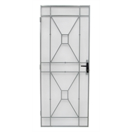 Bastion 2024 x 806mm White Sutton Imperial Steel Frame Security Screen Door