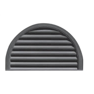 GableMASTER 864 x 559mm 1 / 2 Round Prime Exterior Wall Vent