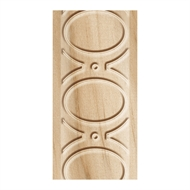 Porta 33 x 10mm 2.4m White Oak Oval and Dart Embossed Wall Trim Moulding