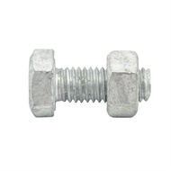 Zenith M8 x 20mm Hot Dipped Galvansed Hex Head Bolt And Nut