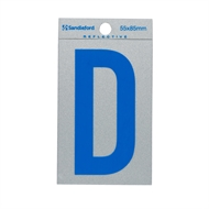 Sandleford 85 x 55mm 'D' Self Adhesive Blue Reflective Letter