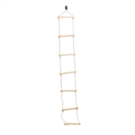 Swing Slide Climb 2080mm Climbing Rope With Wooden Rung Ladder