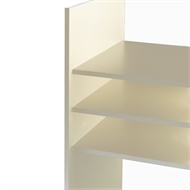 1800 x 595mm 16mm Pre Drilled ABS Melamine Shelving