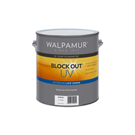Walpamur 4L White Low Sheen Blockout UV Paint