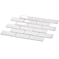 Decor8 Tiles 291 x 296 x 6mm White Gloss Metro Ceramic Mosaic Tiles