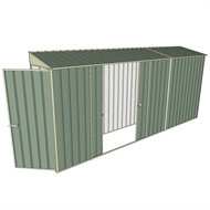 Build-a-Shed 0.8 x 4.5 x 2m Hinged Door Tunnel Shed with Double Sliding Side Doors - Green