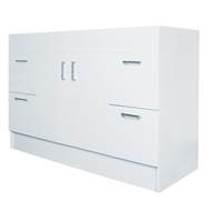 Estilo 1200mm Allana Gloss White Freestanding Vanity - Cabinet Only