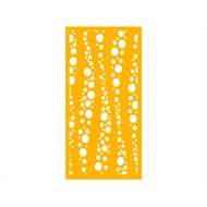 Protector Aluminium 900 x 1800mm Profile 27 Decorative Panel Unframed - Dark Yellow