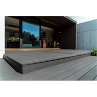 Ekodeck Plus 137 x 23mm x 5.4m Greystone Grooved Composite Decking